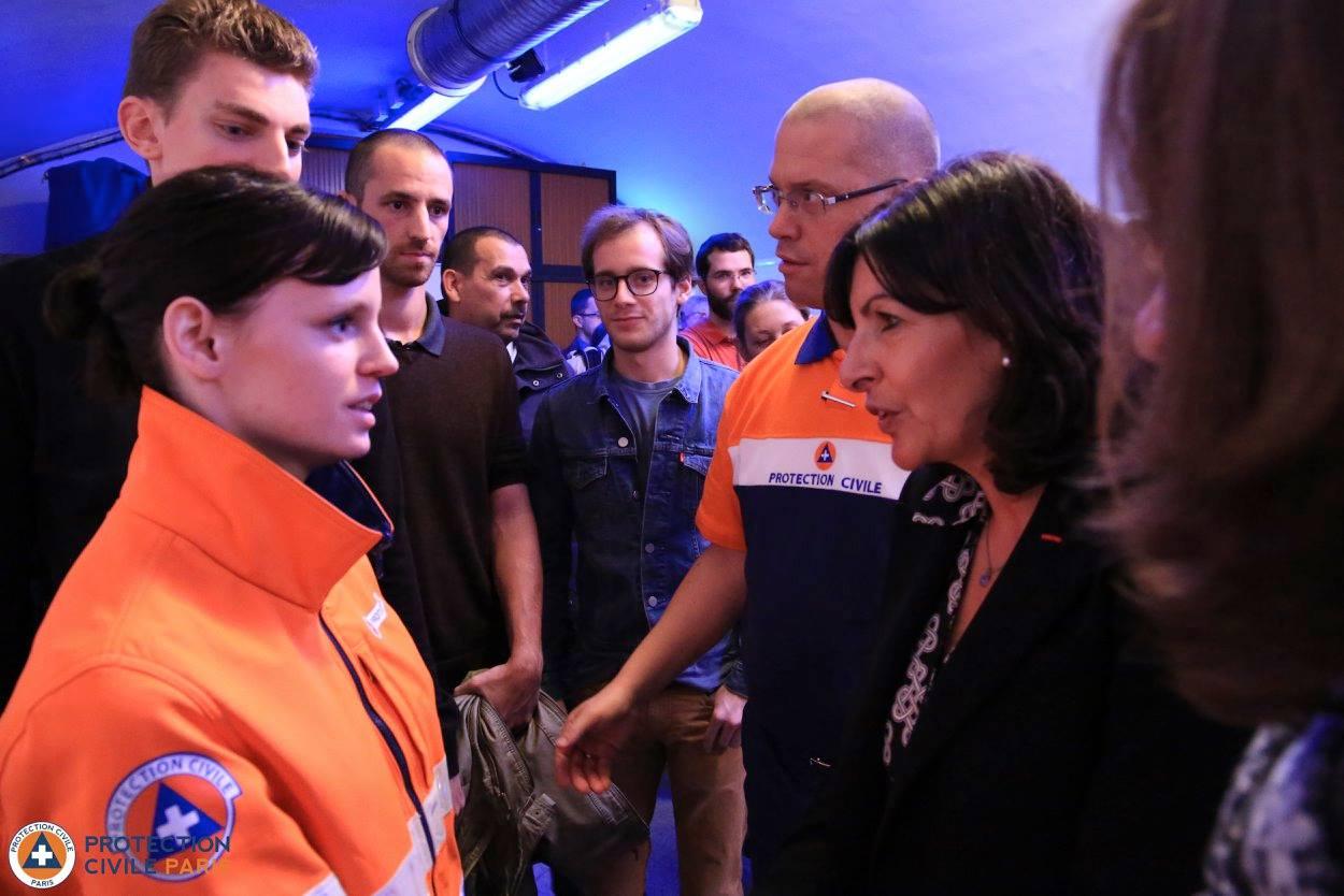 Visite Maire de Paris Attentat