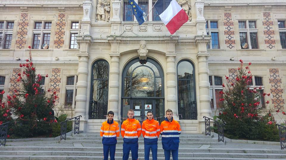Equipe de la protection civile de Paris-mairie du 12ème